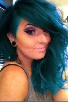 dark blue mermaid hair