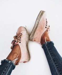 Pink Espadrilles I Espadrille Sneakers I Suede Sneakers I Shop Bop Cute Shoes, Me Too Shoes, Crazy Shoes, Ideias Fashion, Fashion Shoes, Sneakers Fashion, Shoe Boots, Footwear, My Style