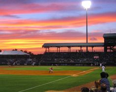 Joseph P. Riley Park.  Home to the #Charleston Riverdogs, our minor league baseball team.  You never know what fun promotions are planned or if you'll see co-owner of the team, Bill Murray, cheering them on or entertaining the crowd.  Photo courtesy of Erin Southerlin. dunes properties www.dunesproperties.com