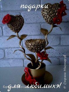 Бонсай топиарий Поделка изделие День рождения Аппликация кофейная феерия Кофе фото 1