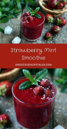 strawberry mint smoothie pinterest