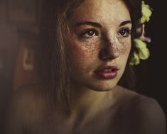 111 by ~MartaSyrko on deviantART -- I absolutely adore her freckles. I know they're one of those things that most people who have them, hate them (or at least most I've known), but I find them to be beautiful.