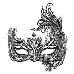 La máscara Fox Fairy Style Negro metal de Halloween Masquerade cola-Nine – USD $ 23.99