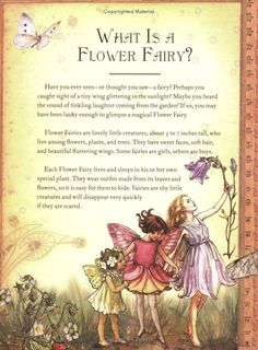 From 'The Girls' Book of Flower Fairies,' by Cicely Mary Barker