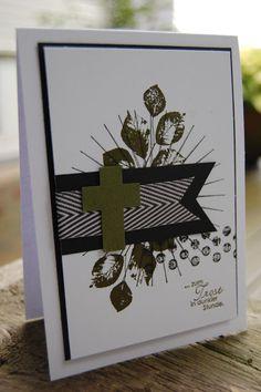 Bastelabend bei Petra, Kinda Eclectic, Perfekte Pärchen, Trauerkarte, Waldmoos mit Schwarz