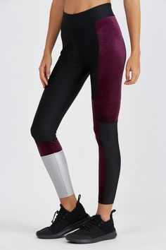 These color block velvet leggings will flatter looks both in and out of the  gym. BANDIER 97fd9ecc9