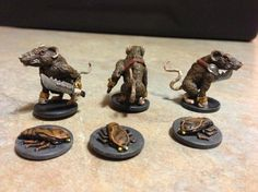 Painted miniatures - mice and Mystics