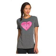 Spread Breast Cancer awareness with the Under Armour Women's Power in Pink Hope Tee Shirt