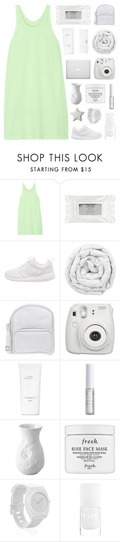 """""""nights we don't remember. ☆"""" by i-get-lost-sometimes ❤ liked on Polyvore featuring T By Alexander Wang, Stila, NIKE, Brinkhaus, Jil Sander Navy, Fujifilm, Conair, Hermès, Lord & Berry and Rosenthal"""