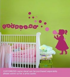 wall decals for a little girls room. This is so cute! I probably wouldn't do it for a baby but a little girls room