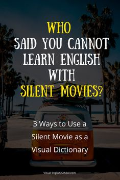 Learn English with silent short films! I'll show you 3 ways you can use them to enhance your vocabulary and create your own fabulous visual dictionary. , via English School English Exam, English Tips, English Study, Learn English, Improve English Speaking, Improve Your English, Advanced English Vocabulary, English Vocabulary Words, Grammar Lesson Plans