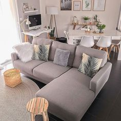 45 amazing gorgeous living room color schemes to make your room cozy 8 – Home De… - Modern Living Room Color Schemes, Living Room Colors, Living Room Grey, Home Living Room, Living Room Decor, Cozy Living, Interior Design Living Room, Living Room Designs, Kitchen Interior