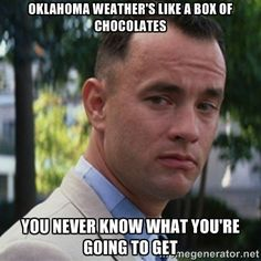 Oklahoma weather Forest Gump