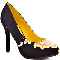 Emma - Black - My collection from top Don Ed Hardy, Dress Me Up, Black Heels, Me Too Shoes, Fendi, Dior, Kitten Heels, Peep Toe, Footwear