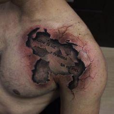 3d tattoo by Yomico Moreno | tattoo artist – Caracas, Venezuela