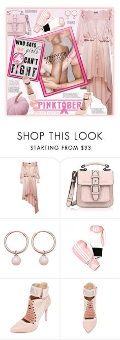 """Pinktober"" by fassionista ❤ liked on Polyvore featuring Magda Butrym, Armani Jeans, Astley Clarke, adidas, Cada, breastcancerawareness, pinktastic and pinktober"