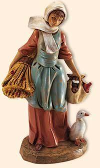 5 Inch Scale Hannah, Farm Girl by Fontanini, Out of stock until June Nativity Church, The Nativity Story, Nativity Scene Pictures, Nativity Sets For Sale, Roman Kings, Nativity Clipart, Journey To Bethlehem, Nativity Coloring Pages, Fontanini Nativity