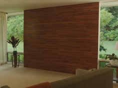 Make a statement with laminate flooring on the wall!
