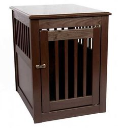 Dynamic Accents Poplar End Table Pet Crate - 42164-7 - Here's a quality, handcrafted alternative to unsightly wire pet crates from Dynamic Accents!   These End Table Pet Crates are constructed of solid hardwood (Poplar) , and feature a unique swing-through door that opens both ways, out... or rotated inside the crate to provide open access for your pet.  Of course, the door can always be fastened shut with the fashionable and secure closure.  This item SHIPS FREE anywhere within the lower …