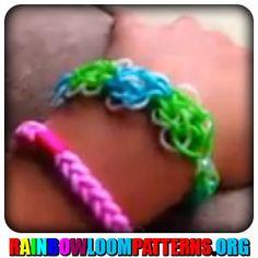 Rainbow Loom Bracelets - Beginner : Butterfly Blossom - #rainbowloom #rainbowloombracelet #rainbowloompattern
