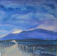 Moon rising in McGregor Acrylic on canvas Moon Rise, Paintings, Canvas, Art, Tela, Paint, Painting Art, Canvases, Kunst