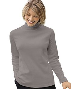 UltraSofts UltraSofts Mock Turtleneck Heather Gray Large -- Continue to the product at the image link.Note:It is affiliate link to Amazon.