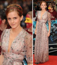 Emma Watson.  This dress is still one of the most amazing dresses I've ever seen