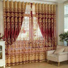 luxury embossed embroidery yarn Pearl peacock gauze tulle sheer curtain N017