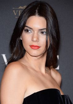 Kendall Jenner looked timelessly gorgeous at the 'Vogue' party during Paris Fashion Week on Oct. 3. Get her red lip below!
