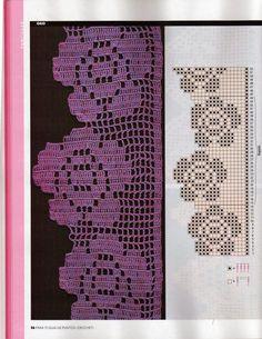 Watch The Video Splendid Crochet a Puff Flower Ideas. Phenomenal Crochet a Puff Flower Ideas. Crochet Boarders, Crochet Lace Edging, Crochet Flower Patterns, Thread Crochet, Crochet Trim, Love Crochet, Crochet Designs, Crochet Doilies, Crochet Flowers