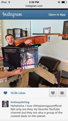 HAHA oh Steve, I know you're a professional, but I think you may be holding that cello the wrong way...