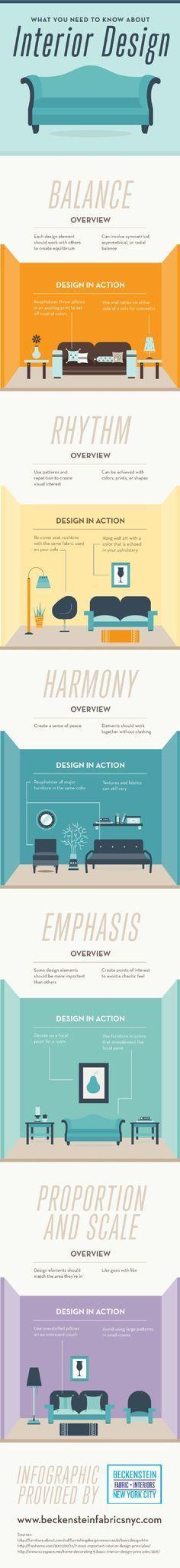 50 Interior Design Hacks #Infographic   Infographic, Interiors and ...