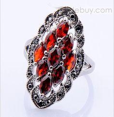 Elegant Red Diamond Rhinestone Lady's Ring : Tidebuy.com