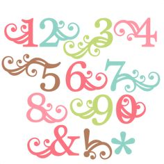 Number Monograms SVG scrapbook cut file cute clipart files for silhouette cricut pazzles free svgs free svg cuts cute cut files
