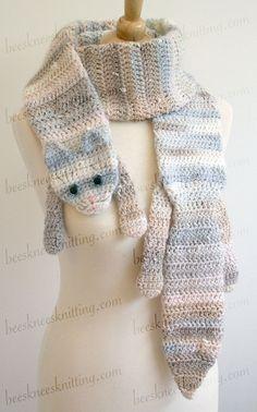 Digital PDF Crochet Pattern for Calico Cat by BeesKneesKnitting