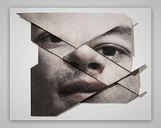 Austrian artist Aldo Tolino creates thought-provoking artworks by folding, distorting and deconstructing portraits. More art on the grid via Fubiz Distortion Photography, Distortion Art, Art Photography, Human Figure Artists, Broken Mirror Art, A Level Art Sketchbook, Origami Art, Conceptual Art, Collage Art