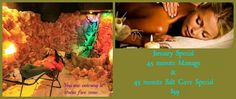Massage and salt cave special at Asheville Salt Cave and Salt Spa #Asheville #Massage #Spa #Salt