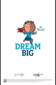 "Amelia Earhart ""Dream Big"" poster - Brad Meltzer"