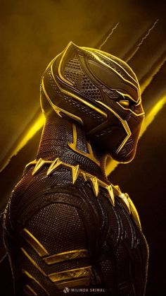 Marvel - Black Panther in Yellow Black Panther Marvel, Black Panther Art, Marvel Vs, Marvel Dc Comics, Marvel Heroes, Deadpool Wallpaper, Avengers Wallpaper, Marvel Characters, Marvel Movies