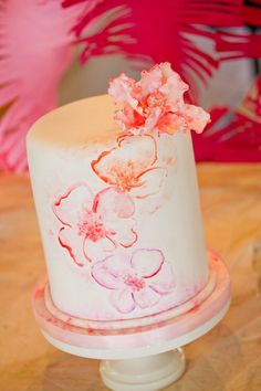Hibiscus Cake on Pinterest | Luau Cakes, Hawaiian Cakes ...
