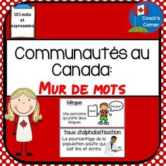 Communities in Canada Word Wall - FRENCH Version (for Ontario Grade 6 Social Studies Curriculum)