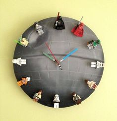 That's no clock! It's a death star(space station) with star wars figures on it!