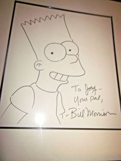 Original Comic Art SIMPSON's real, old, large, cool, framed by Morrison
