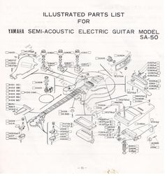 yamaha sa 20 sa 30 sa 50 sa 70 wiring diagram page 16 of 1979 sa 50 yamaha guitar booklet page 11 illustrated