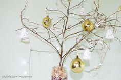 DIY - Árvore de Natal com galhos secos e efeito neve | Especial de Natal 2015 - Casinha Arrumada