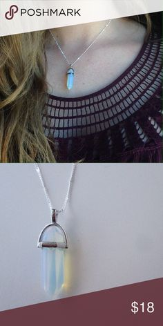 Boho Glowing Iridescent Crystal Necklace Beautiful silver plated necklace with an iridescent crystal and will glow every time the sun touches it! Jewelry Necklaces