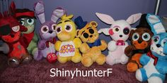 Five nights at Freddy's Plush Gang by ShinyhunterF on DeviantArt