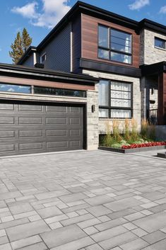Check out these 8 stunning options for driveway pavers! Driveway Design, Driveway Landscaping, Landscaping Ideas, Property Values, Backyard, Patio, Architect Design, Exterior Design, Landscape