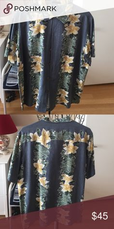 Hawaiian shirt Pure silk short sleeve shirt grant thomas Shirts Dress Shirts