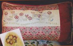 The William Morris Poem Cushion No 1: Lily Pattern